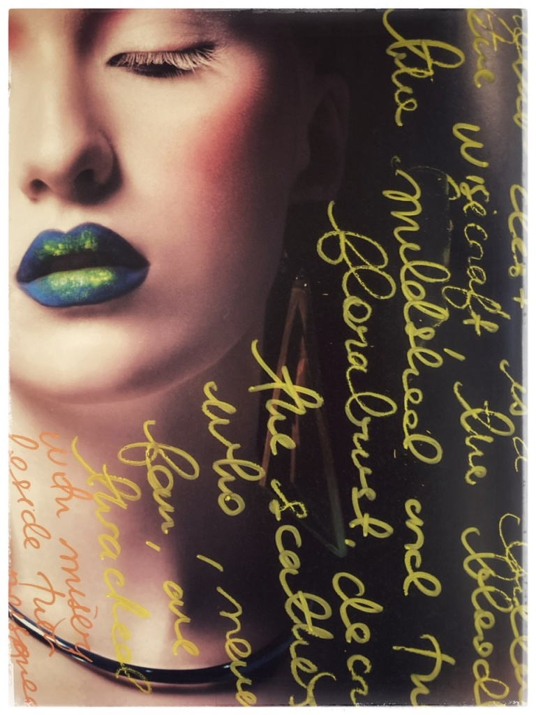 Image with handwritten English cursive script overlay. Page from Tokyo Fashion Edge Volume 35, 2019.
